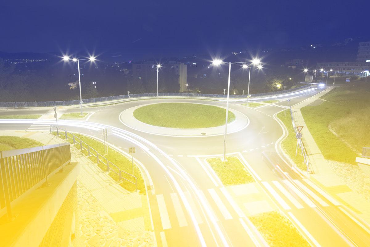 LED Straßenbeleuchtung 3H-Licht